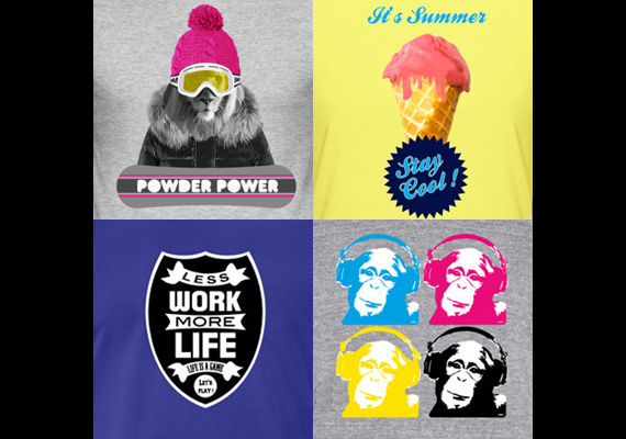 T-shirts designs by WAM - + 1200 designs